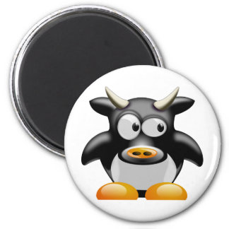 Moo Moo the Cow 6 Cm Round Magnet