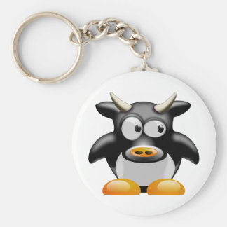 Moo Moo the Cow Basic Round Button Key Ring