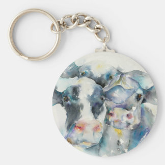 Moo-Moo's Basic Round Button Key Ring
