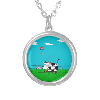 Moo Silver Plated Necklace