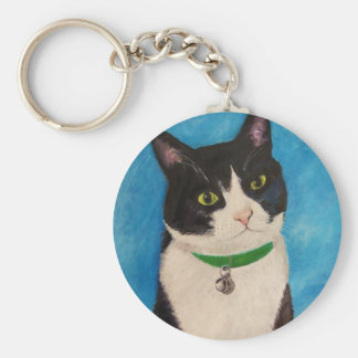 Moo the Cat Basic Round Button Key Ring
