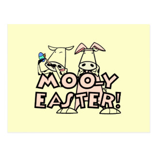 Moo-y Easter T-shirts and Gifts Postcard