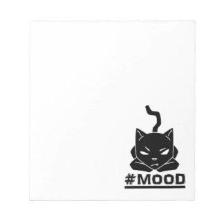 #MOOD Cat Black Notepad
