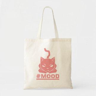 #MOOD Cat Pink Logo Illustration Tote Bag