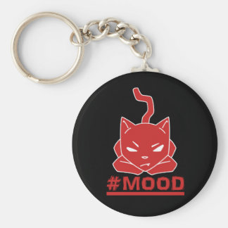 #MOOD Cat Red Logo Illustration Key Ring