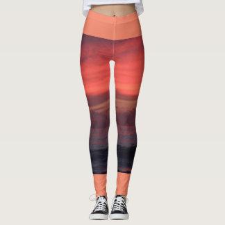 Moods of Peach Sunset leggings