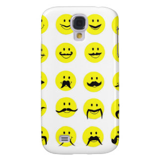 Moodstaches Smiley Face Mustache Galaxy S4 Case