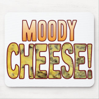 Moody Blue Cheese Mouse Pad