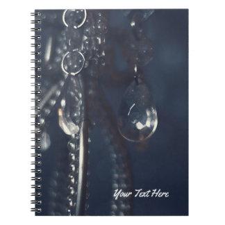 Moody Blue Crystal Elegant Romantic Chic Glam Notebooks