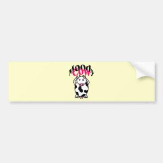 Moody Cow Bumper Sticker