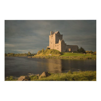 Moody Dunguaire Castle, Horizontal Wood Wall Art