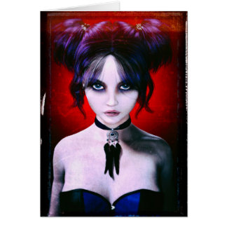 Moody Goth Girl Portrait Card