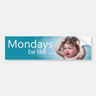 Moody Monday Bumper Sticker