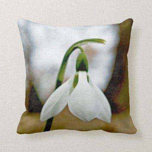 Moody Snowdrop Pillows