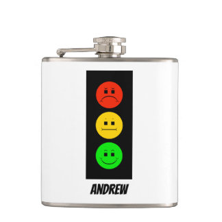Moody Stoplight Customizable with Name Hip Flask