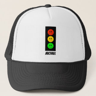 Moody Stoplight Customizable with Name Trucker Hat