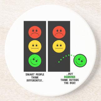 Moody Stoplight Geniuses Think Outside The Box Coaster