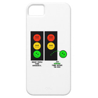 Moody Stoplight Geniuses Think Outside The Box iPhone 5 Cover