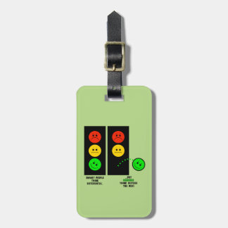 Moody Stoplight Geniuses Think Outside The Box Luggage Tag