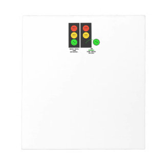 Moody Stoplight Geniuses Think Outside The Box Notepad