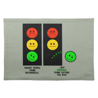 Moody Stoplight Geniuses Think Outside The Box Placemat