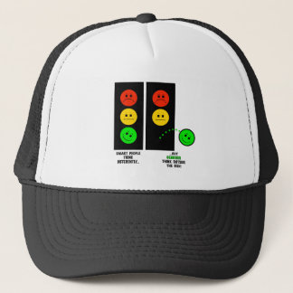 Moody Stoplight Geniuses Think Outside The Box Trucker Hat