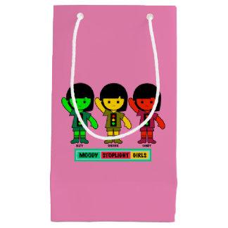 Moody Stoplight Girls in Shorts Small Gift Bag