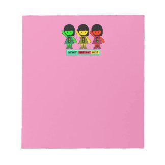 Moody Stoplight Girls w/ Label Notepad
