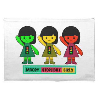 Moody Stoplight Girls w/ Label Placemat