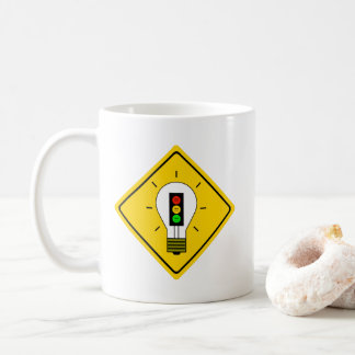 Moody Stoplight Lightbulb Ahead Coffee Mug