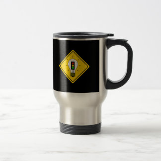 Moody Stoplight Lightbulb Ahead Travel Mug