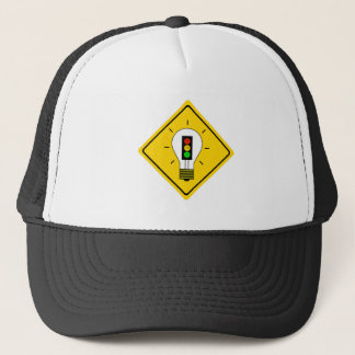 Moody Stoplight Lightbulb Ahead Trucker Hat
