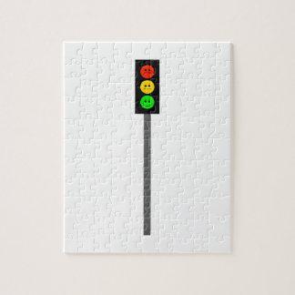 Moody Stoplight on Pole Jigsaw Puzzle