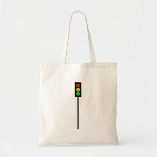 Moody Stoplight on Pole Tote Bag