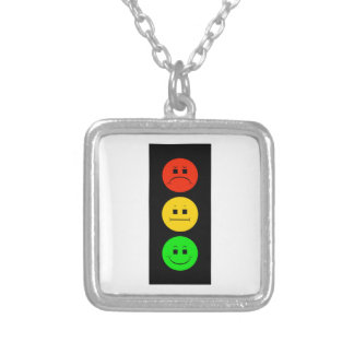 Moody Stoplight Silver Plated Necklace
