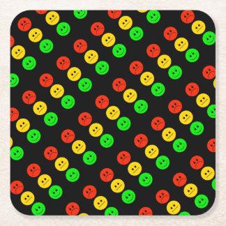 Moody Stoplight Square Paper Coaster
