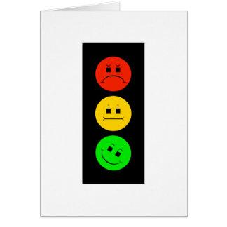 Moody Stoplight Tilted Green Card