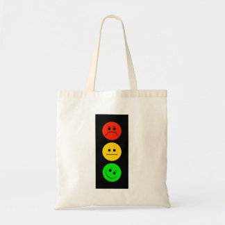 Moody Stoplight Tilted Green Tote Bag