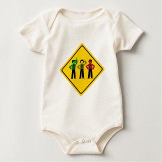 Moody Stoplight Trio Ahead Baby Bodysuit