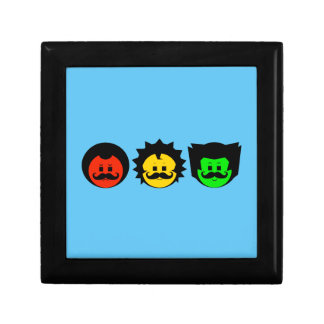 Moody Stoplight Trio Faces with Mustachios 1 Gift Box