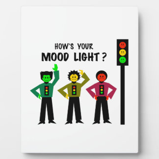 Moody Stoplight Trio How's Your Mood Light Display Plaques