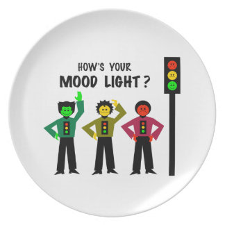 Moody Stoplight Trio How's Your Mood Light Plate