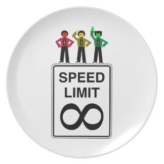 Moody Stoplight Trio Infinite Speed Limit Plate