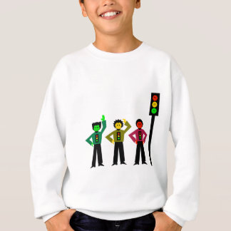 Moody Stoplight Trio Next to Moody Stoplight Sweatshirt