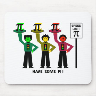 Moody Stoplight Trio Next To Speed Lim Pi Sign w/C Mouse Pad