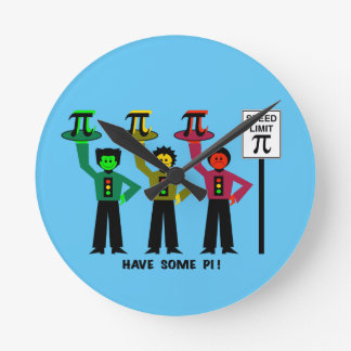 Moody Stoplight Trio Next To Speed Lim Pi Sign w/C Round Clock