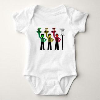 Moody Stoplight Trio Next to Speed Limit Pi Sign Baby Bodysuit
