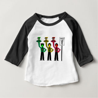 Moody Stoplight Trio Next to Speed Limit Pi Sign Baby T-Shirt