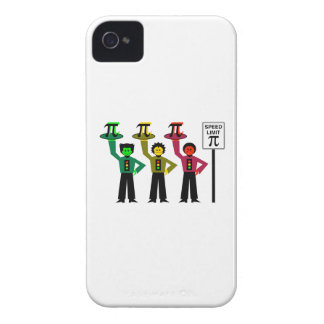 Moody Stoplight Trio Next to Speed Limit Pi Sign Case-Mate iPhone 4 Case