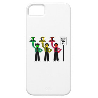 Moody Stoplight Trio Next to Speed Limit Pi Sign iPhone 5 Case